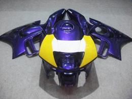 Wholesale Cbr Fairing Kit Purple - Yellow purple Fairing kit for HONDA CBR600F3 97 98 CBR 600F3 1997 1998 CBR600 ABS Plastic Fairings set.