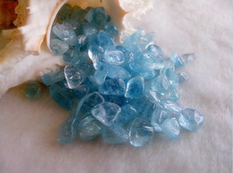 Wholesale AAA Natural aquamarine nunatak gravel crystal gems stone fish tank decoration g a