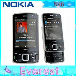 Wholesale 2 Nokia N96 Original Unlocked Refurbished GSM WCDMA G MP Camera Bluetooth WIFI GPS Slider Cell phone