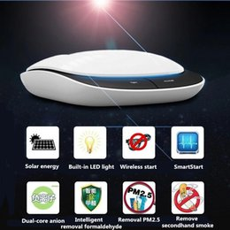 Wholesale DC V solar energy Car air purifier oxygen bar anion Removal of formaldehyde PM2 haze air cleaner