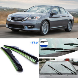 Wholesale 2pcs quot quot front windscreen Brand new windshield wiper blades Soft Rubber WindShield Wiper Blade For Honda Accord Auto parts