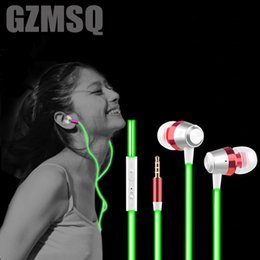 Glow In The Dark Earphone Metal Luminous Headphones Stereo Neon Headset Smartphone MP3 Music Earphones With MIC for Xiaomi HTC