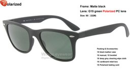 Wholesale Brand new TECH Liteforce Polarized sunglasses style S A Matte Black TR90 inclined frame Green classial lens summer dress equipment