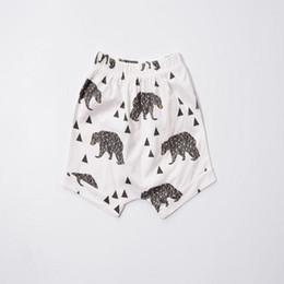Cute baby boys shorts,black bear animal baby shorts ,knit cotton soft material harem pants kids shorts