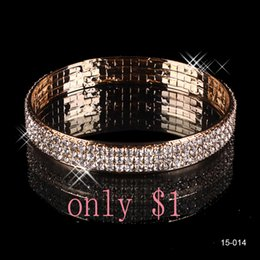 Wholesale 15014 Beautiful Wedding Bracelets Bridal Jewelry Gold Plated Bangle Cheap on Sale In Stock