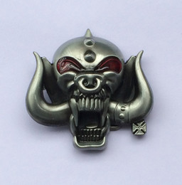 Wholesale 3D Motorhead Long Horn Music Belt BuckleSW BY238 suitable for cm wideth belt with continous stock