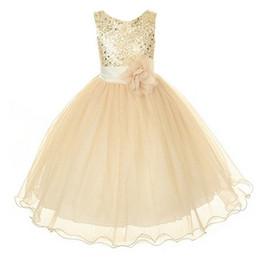 New Style Girl Dress Cute Sequin Sleeveless Vest Princess Lace Dress Baby Kids Party Wedding Bridesmaid Vestido