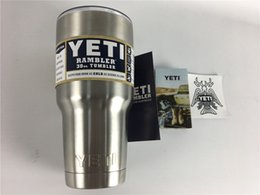 Wholesale Coupon YETI oz Cups Cooler YETI Rambler Tumbler For Travel Vehicle Beer YETI Mug Tumblerful Bilayer Vacuum Insulated Stainless Steel