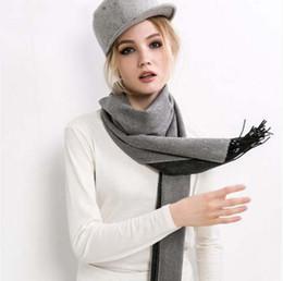 Compra Online Mejores bufandas de moda-Moda de lana Echarpe lujo de la marca bufanda de lana Mujeres 2016 Mujer la mejor calidad de la cachemira de la bufanda de Pashmina borlas de las mujeres de los hombres del abrigo hijab con el regalo b