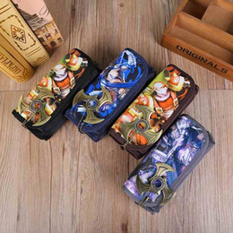 Wholesale Hot Sale Korea Style Cartoon Animation Pencil Case Simple Canvas School Students Use Stationery Cute Pen Case Big Capacity PL