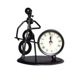 Desk Decoration of Iron-man Playing Cello Casting Model With Clock - Cello Model Clock