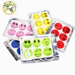 Smiling Face Mosquito Repellent Sticker Mosquito Repeller Patch Anti-mosquito Natural Essential Oil Repellent Mat Mix Color