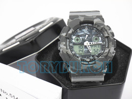 Wholesale Top quality relogio G Camouflage men s sports watches Luxury brand men watch LED chronograph wristwatch military watch digital watch