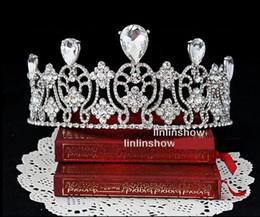 1Pcs Bridal Wedding Crystal Rhinestone Hair Accessories Headband Crown Tiara Prom Pageant Hairpin Hair Comb Hair Bands
