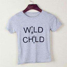 Grey Wild Child Print Baby Boys Clothes 2016 Summer Children Clothes Shirt for boy t-shirts kids tees shirts 90-130 wholesale