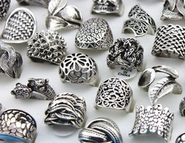 brand new 50PCs mixed different styles beautiful Silver vintage retro party women's jewelry rings wholesale lots