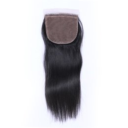 8A Quality Brazilian Indian Malaysian Peruvian 4*4 Straight Hair Lace closure No Shedding Free Tangle Full And Thick Free Shipping Fee DHL