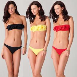 New Design Brazilian Bikini Swimwear Push Bikini Underwire Swimsuits Petal Bandage Bathing Suits Biquini Maillot De Bain