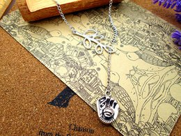 Wholesale 12pcs Women Fashion Hot Sale Simple Elegant Leaves with mm Baseball mitt and ball charm pendant Necklace