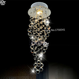 Wholesale the new listing Modern round crystal chandelier penthouse stair lamp door long living room dining lamp high quality