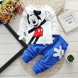 2016 Spring lovely children's cartoon Mickey Mouse Clubhouse autumn wave point children 2-4 years old big virgin cotton suit