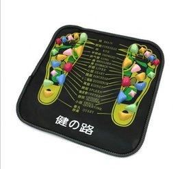 Wholesale Reflexology Walk Stone Foot Leg Pain Relieve Relief Walk Massager Mat Health Care Acupressure Mat Pad massageador