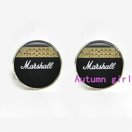Wholesale J Marshall Guitar Amp Cufflinks grand piano keyboard pedal string hammer harpsichord organ register organ stop