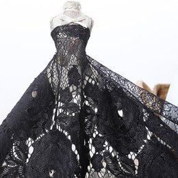 Wholesale Rose Flower Dresses African Lace Fabric Eyelash Trim Embroidery Patchwork Textile tulle Curtain Cloth Art Crafts Sewing Wedding Dress Decor