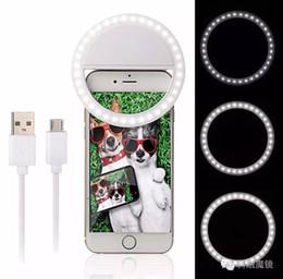 Anillo de luz led de la cámara en Línea-Carga recargable de USB con la batería Selfie Portable LED anillo de luz de relleno de la cámara para el teléfono Android del iPhone