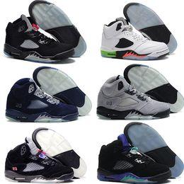 Wholesale New Cheap Air Retro V man basketball shoes pro stars hornets oreo black grape release sport sneaker hot online sale