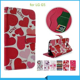 Wholesale For LG Optimus zone K4 x cam x screen k10 G5 PU Leather Flip Case fashion line design stand phone wallet case