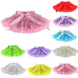 Wholesale Baby TuTu Skirts pettiskirt girls skirts for kids Chiffon Ruffles skirts Girls Kids Tutu Party Ballet Dance Wear Skirt Pettiskirt Costume