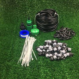 Wholesale 4 PVC Hose Outdoor Garden Patio Misting Cooling System Mist Nozzle Sprinklers automatic watering Micro Irrigation System