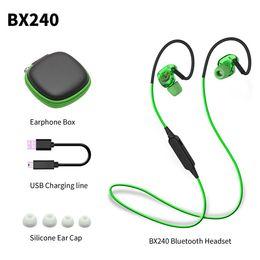 BX240 Wireless Bluetooth Earphone IPX5 Waterproof Sport Music Headset Stereo Headphone With Mic For iPhone Samsung HTC Huawei