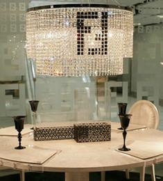 F mark Rectanglar crystal chandelier for dining room kitchen coffee shop Bar light modern led pendant chandelier hotel crystal candelabro