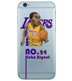Wholesale Fashion Koulan Basketball Star Soft TPU Case For Iphone S Plus S SE S C Photos Spot Wang Clear Transparent Silicone Cover