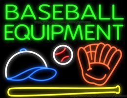 Wholesale Baseball Equipment Handcrafted Neon Sign Real Glass Tuble Light Sport Game Room Display Sign Shop Store Advertisement Sign quot x24 quot