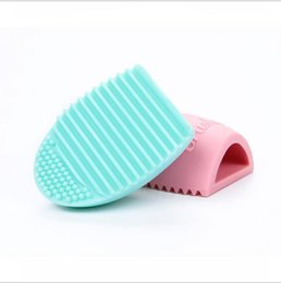 2016 Egg Cleaning Glove MakeUp Washing Brush Scrubber Board Cosmetic Brushegg Cosmetic Brush Egg 7colors brushegg