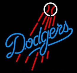 Wholesale NEW LOS ANGELES DODGERS SIZE quot X14 quot GLASS NEON SIGN LIGHT BEER BAR PUB SIGN ARTS CRAFTS GIFTS SIGNS