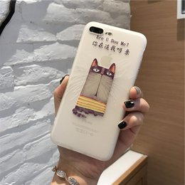 TPU+Funny Cat Relief Pattern soft case cover for iphone 6 6s plus 7 7plus back case cover
