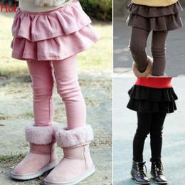 Wholesale New Spring Children Kids Legging Girls Skirt Pants Cake Skirt Girl Baby Pants Tutu Kids Leggings Skirt Pants Pleated Skirt Black Pink