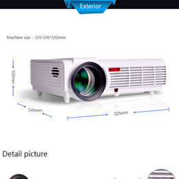 Wholesale best LED96 lumens Video HDMI USB TV x800 Full HD P Home Theater D LED projector Projetor proyector beamer DHL from kindboy