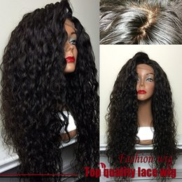 Wholesale Hot Top Quality Fiber Loose Curly Wigs Synthetic Lace Front Wigs Density Black Color Heat Resistant Synthetic Hair Wigs