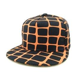 Wholesale 2016 new hiphop street dancing adjustable snapback caps hat gorras full of grid gridding spider web net printing for men women
