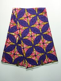 Wholesale 6yards Nice looking pattern african batik super real wax fabric Hollandais painting wax material for clothing VS88