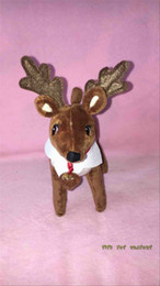 Wholesale Fast Shipping on the Shelf Pets Reindeer Cristmas Plush Toys A Christmas Xmas Toy Gift