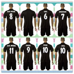 Wholesale New Product Uniforms Kit Atletico Madrid Oliver Gabi Koke Griezmann Soccer Jersey Black Away Jerseys Shirt