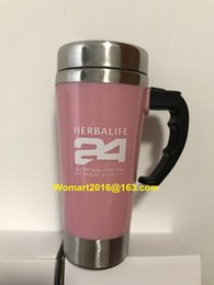 Wholesale Black Color Herbalife Nutrition Shake Bottle ml Stainless Self Stirring Mug Auto Mixing Health Meal Tea Coffee Mug Cups