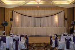 DHL Wedding Curtain Backdrops Wedding Stage Decorations Backdrop Wedding Props Satin Drape Wall Covering CHIFFON WHITE WEDDING BACKDROP