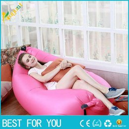Wholesale Fast Inflatable Camping Sofa banana Sleeping Lazy Chair Bag Nylon Hangout Air Beach Bed chair Couch